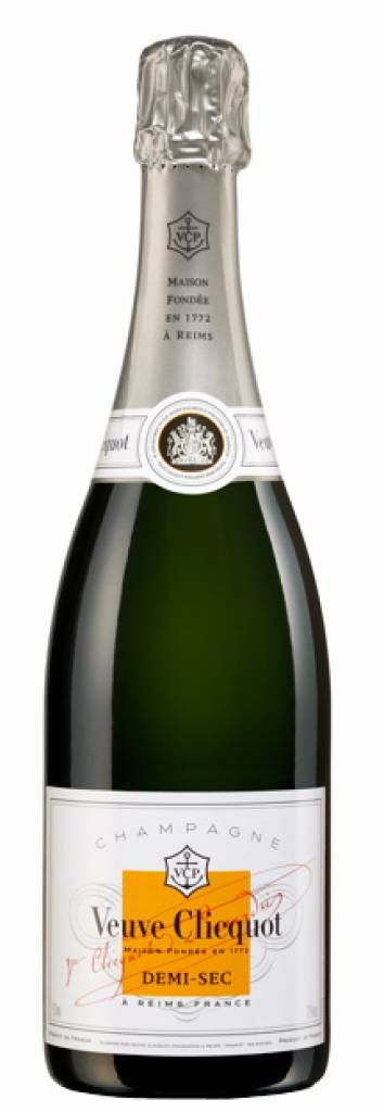 Veuve Clicquot Demi Sec Champagne, a favorite of mine.  Hard to find, and worth every penny.  Sip and savor.