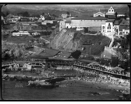Balneario Recreo, Piscina a orilla del mar.   ---   Fotog.: Einar Altschwager   ---   Fecha de la Fotog.: 1930   ---  MHN