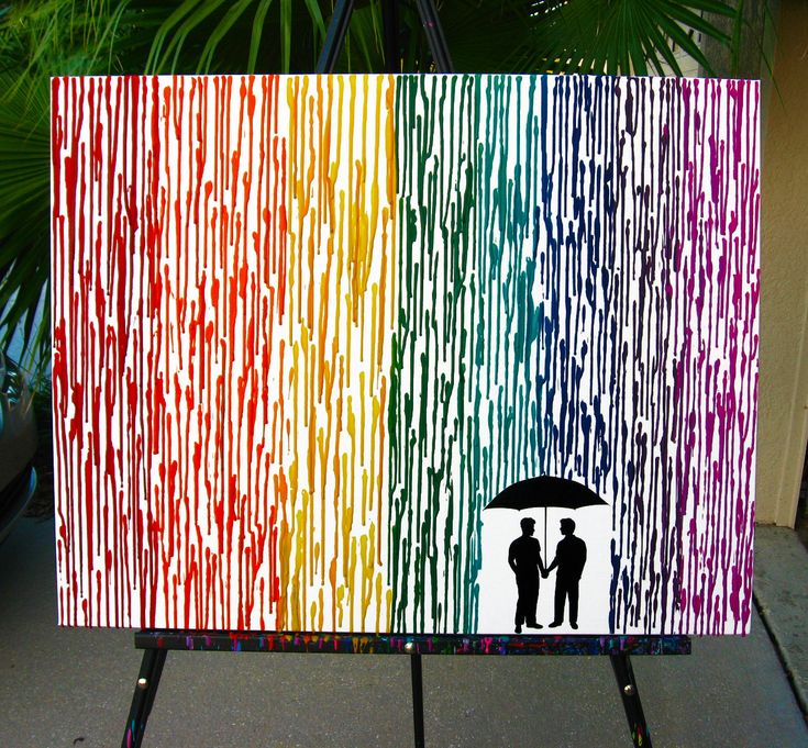 gay wedding gift melted crayon art couple gift for