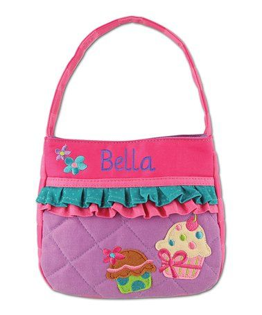 $16.99 marked down from $26.90! Cupcake Personalized Quilted Purse #kids #personalized #cupcake #purse #girls #gift #zulily #zulilyfinds