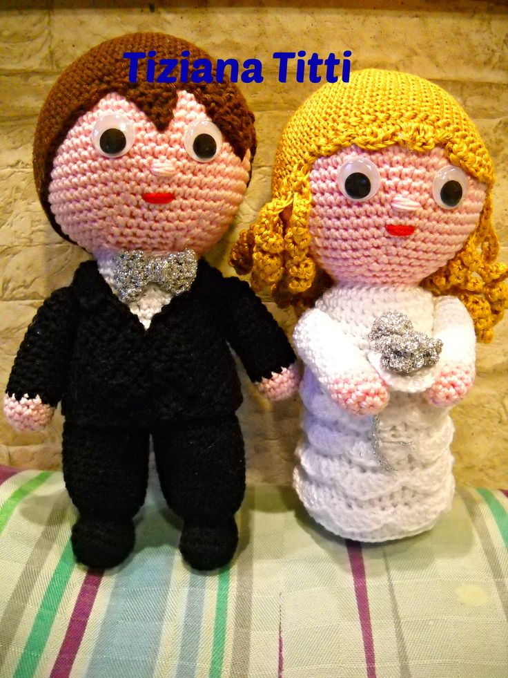 groom and bride sposi amigurumi crochet