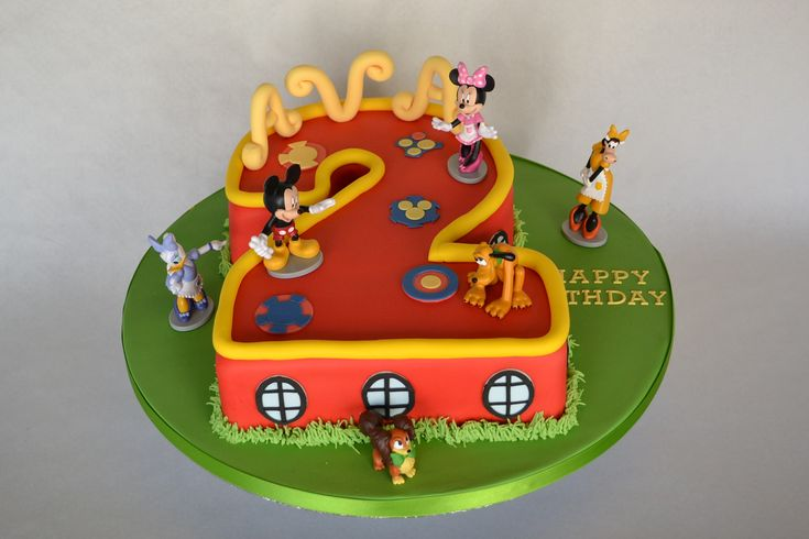 Number 2 Mickey Mouse Clubhouse Cake