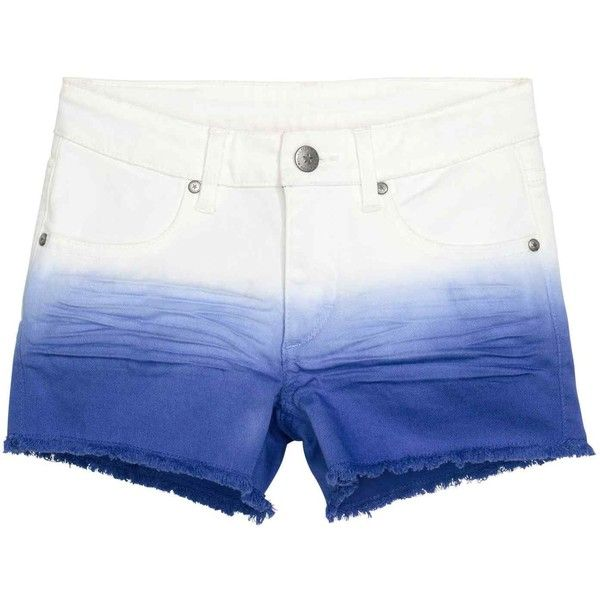 Dip-dye shorts (495 THB) ❤ liked on Polyvore featuring shorts, dip dyed shorts, zipper shorts and dip dye shorts