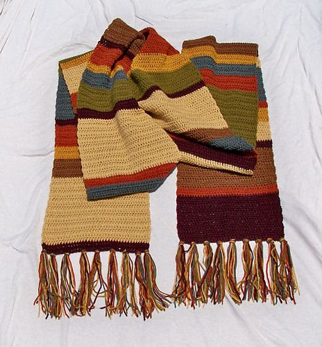 Tom Baker Scarf Knitting Pattern : Dr. Who scarf Crochet Pinterest Seasons, Ravelry and The ojays