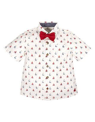 Soloman Sailing Bow Tie Set | White | Monsoon