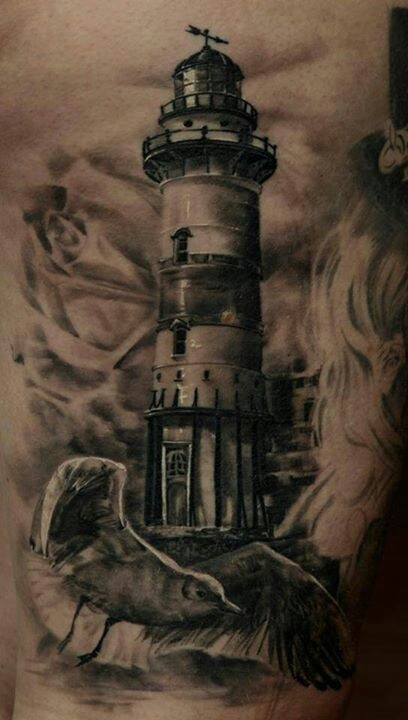 I really want a lighthouse tattoo and this is a really cool tattoo maybe something like this and maybe change and pit more studs around the lighthouse but I don't yet.
