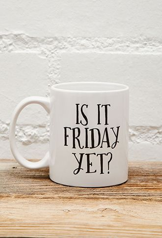 Tickled Teal Is It Friday Mug | FOREVER21 - 1049257244