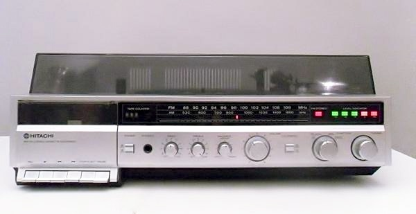 Hitachi All In One Stereo Had Am Fm Stereo Turntable