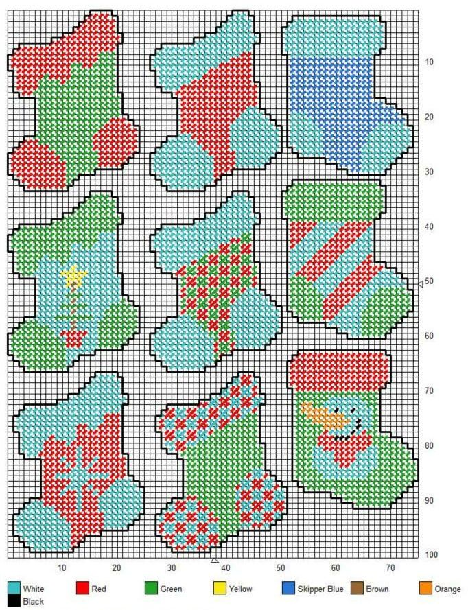 Pinterest Christmas Plastic Canvas Patterns | STOCKINGS | Christmas ornaments…
