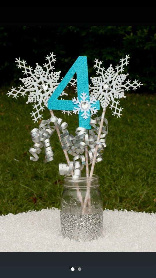 Frozen table decoration... different configurable for another theme