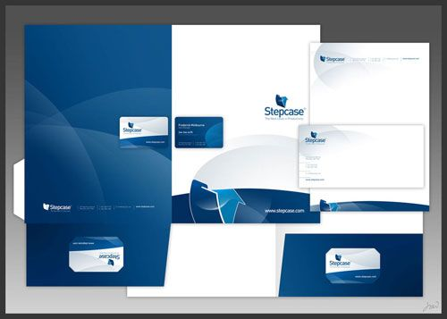 Stepcase logo + stationery - Letterhead And Logo Design Inspiration