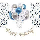 O CAT Geburtstagsdeko Junge und Mädchen Laser Happy Birthday Girlande Metall Lu…