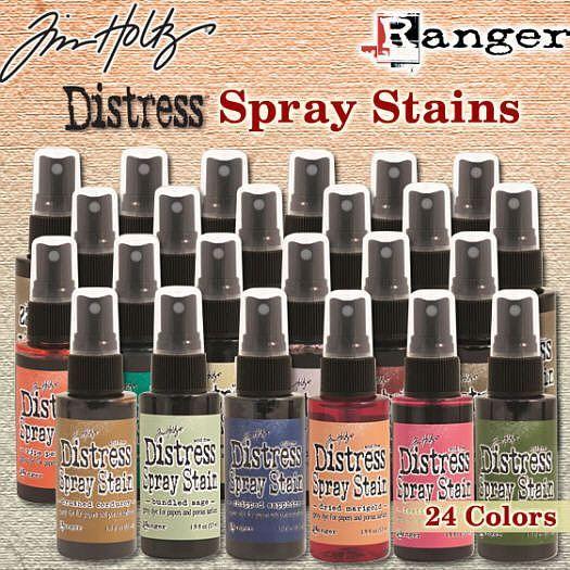 24 nieuwe distress spray stains