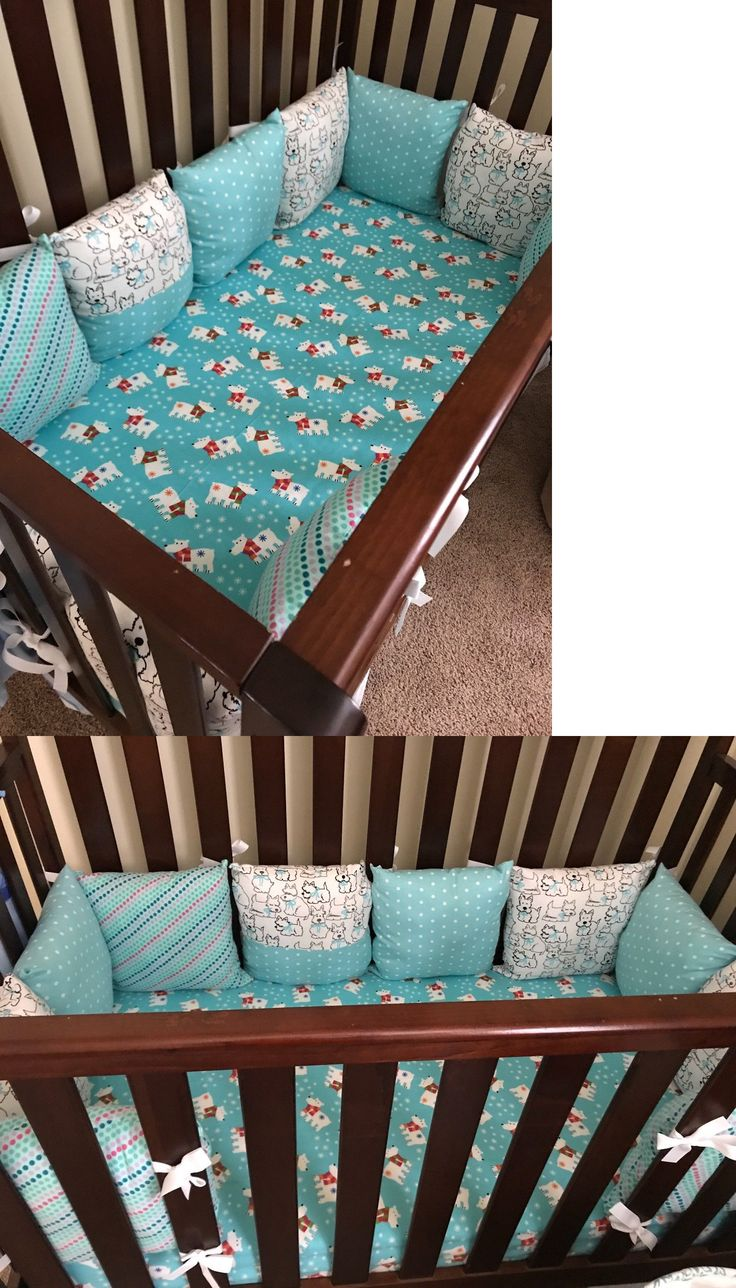 Bumpers 20417: Crib Bumper For Boy Or Girl Handmade 100%Cotton Blue Including 12 Pillows -> BUY IT NOW ONLY: $90 on eBay!