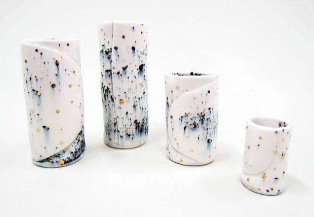 Experimentación con técnicas japonensas. http://www.coolhunting.com/design/ruby-pilven-ceramics.php