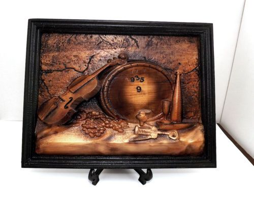 Quadro Pannello ARREDAMENTO RUSTICO Cantina legno bassorilievo violino in Arte e antiquariato, Quadri, Opere di artisti indipendenti | eBay
