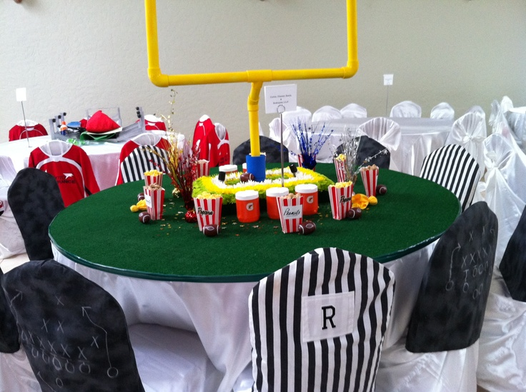 charity sports themed dinner football decoration