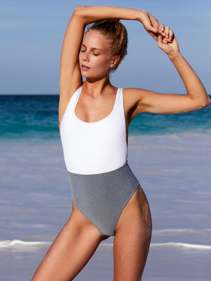 NYX One Piece | Coloblock one-piece swimsuit featuring a rounded neckline and dropped armholes. American made.