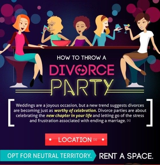 how to throw a divorce party