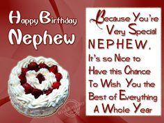 happy birthday dear nephew | Birthday Wishes for Nephew - Birthday Images, Pictures