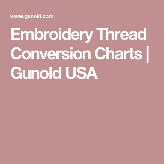 embroidery thread conversion charts gunold usa