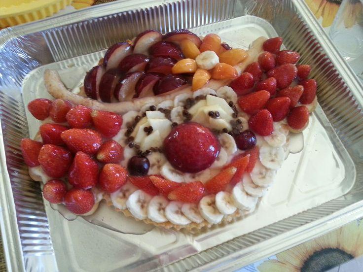 Crostata di frutta con crema pasticcera Pagliaccio