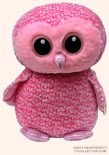 Pinky (extra large) - owl - Ty Beanie Boos