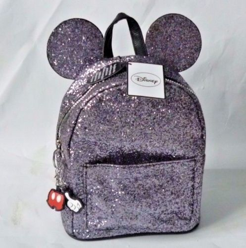 NEW-Primark-Disney-Mickey-Minnie-Mouse-Ears-Rucksack-Backpack-Silver-Glitter-BAG