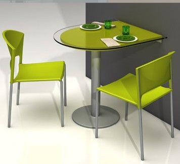 Barra fragolina en cristal ideal para cocinas modernas for Sillas de cocina modernas
