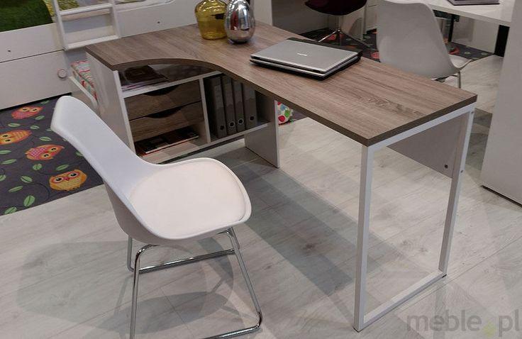 FUNCTION biurko narożne biały/dąb trufla - biały/truflowy, Tvilum - Meble