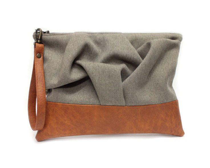Brown Wristlet Bag, Brown Boho Clutch Purse, Origami Wristlet, Fabric Leather Bag, Brown Clutch Bag, Non Leather Purse, Sand Clutch Bag by Maiook on Etsy https://www.etsy.com/au/listing/254680226/brown-wristlet-bag-brown-boho-clutch