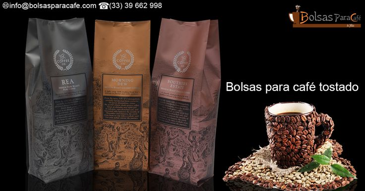 Packaging for roasting / coffee roasted coffee bags (#Bolsas #para #café #tostado) / Euroslot / coffee bags  #CoffeeRoasting is a process that must be carried out carefully, this is the process by which green coffee beans are roasted and go on to become tiny grains of coffee a much darker colour and a similarly different flavour. http://www.bolsasparacafe.com/bolsas-para-cafe-tostado/