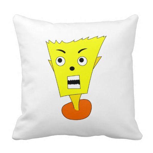 Angry Cartoon Face Pillows