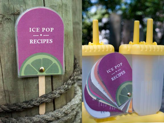 Ice pop recipes!! This is SO cute: Teacher Gifts, Gifts Baskets, Gifts Ideas, Summer Gifts, Recipes Books, Popsicles Recipes, Recipe Books, Ice Pop Recipes, Baskets Ideas