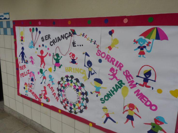 Painel Dia das Crianças - Ana Dias para Escola Experimental