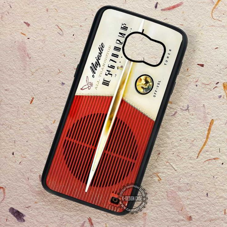 Retro Radio Vintage Majestic - Samsung Galaxy S7 S6 S5 Note 7 Cases & Covers