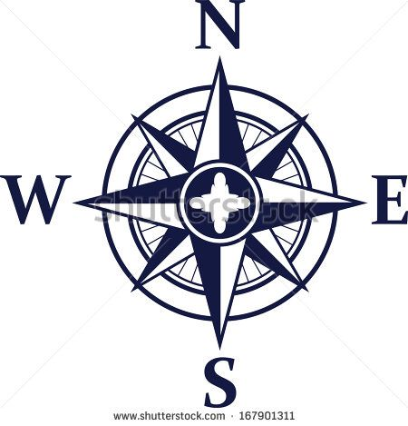 Clip Art Of Wind Rose Gradient