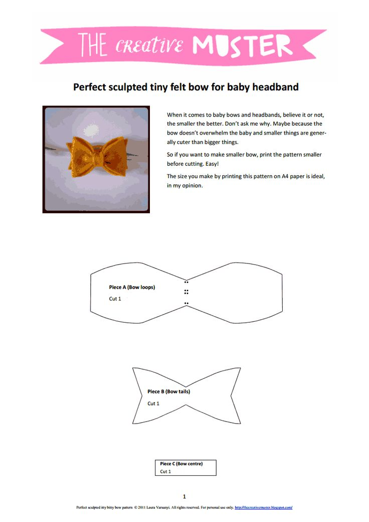 886 best Hair bows \ headbands images on Pinterest Hair bows - bow template