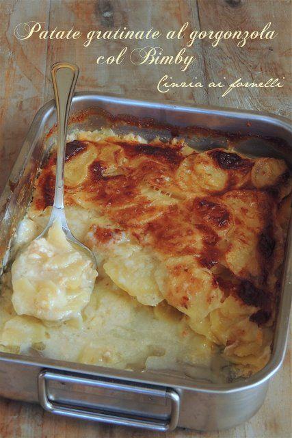 Patate gratinate col Bimby al gorgonzola #ricetta di @cceccolin
