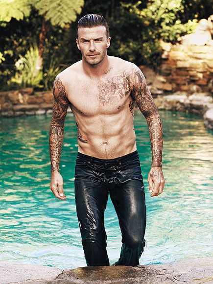 The photo says it all. The 38-year-old dad of four just seems to get better with every underwear ad, quote about his ...Beckham. hot!