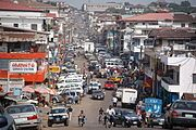 The streets of downtown Monrovia in March 2009.
