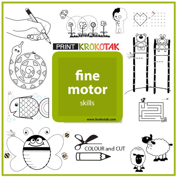 "Fine motor skills activities - printables Make sure you select ""LANDSCAPE"" mode in your printer settings if needed."