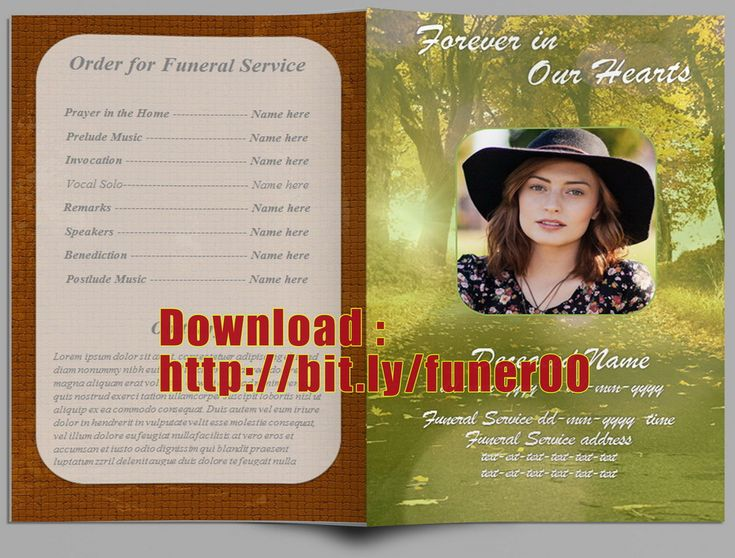 Free Download Funeral Program Template 7 Best Funeral Programs Images On Pinterest  Microsoft Word Free .