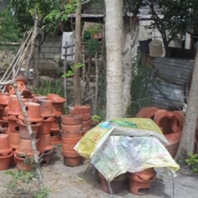 A loan of $450 helped to buy brushes, clay, and moulds to use in making pottery.