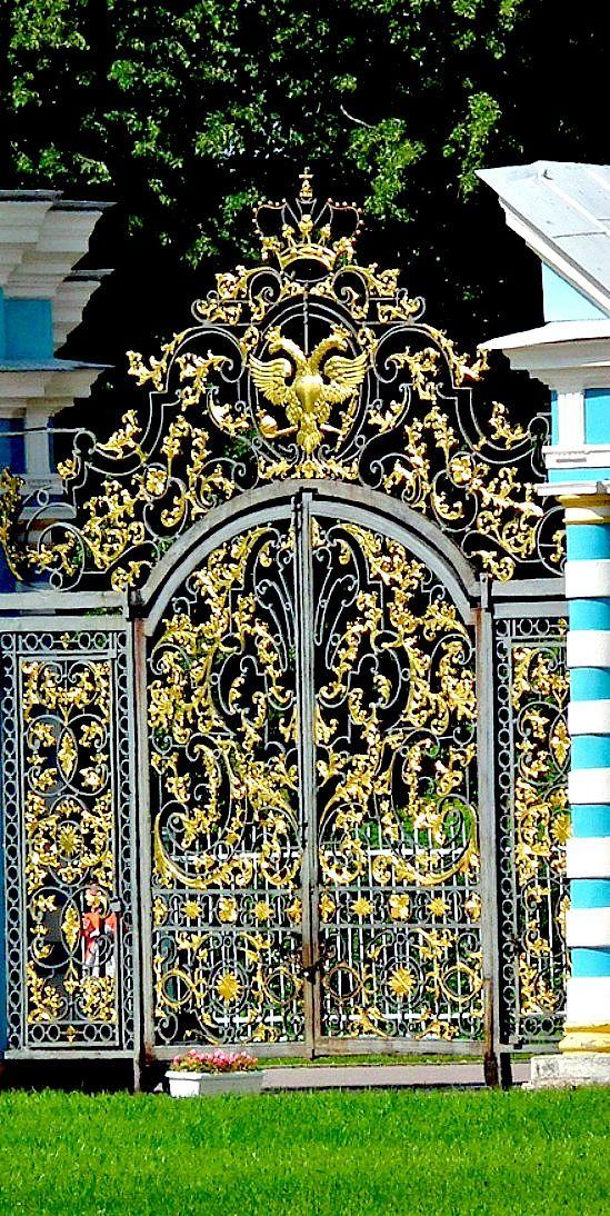High Society- Main Palace Gates ~ royal residence of Empress Catherine in Pushkin | ~LadyLuxuryDesigns