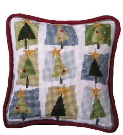 Pippin Canvas Designs: Nines > Christmas Trees, needlepoint canvas