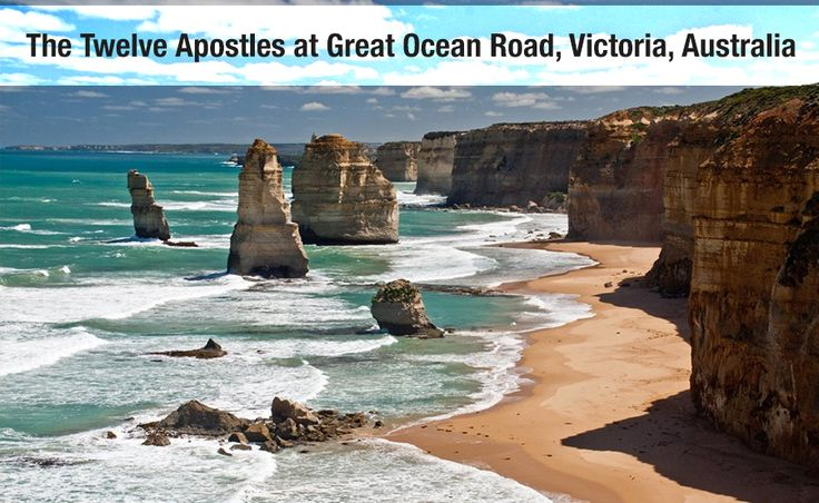 The Twelve Apostles at Great Ocean Road, Victoria, Australia   The Twelve Apostles is a collection of limestone stacks off the shore of the Port Campbell National Park, by the Great Ocean Road.   It is also famous for the helicopter rides that will give you a breathtaking view of the Apostles. Fly to Melbourne and don't miss this place when here.   Call Buddha Travels today and book with us. Call us on (03) 9662 1126  #BuddhaTravel #TwelveApostles #GreatOceanRoad