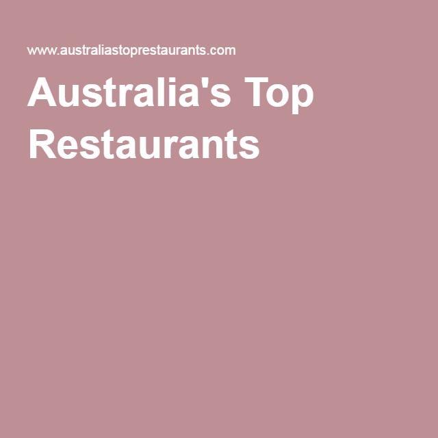 Australia's Top Restaurants