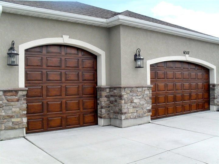 28 best faux painted garage doors images on pinterest for Faux wood grain garage door painting