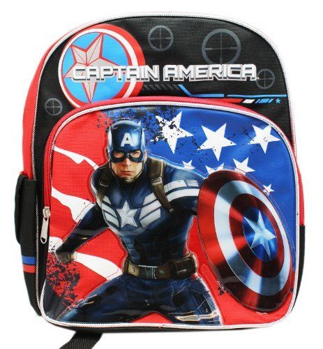 Small Size Black Captain America the Winter Soldier Backpack. #Small #Size #Black #Captain #America #Winter #Soldier #Backpack